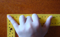 personal measure finger span